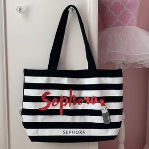 Sephora Striped Cosmetic Tote